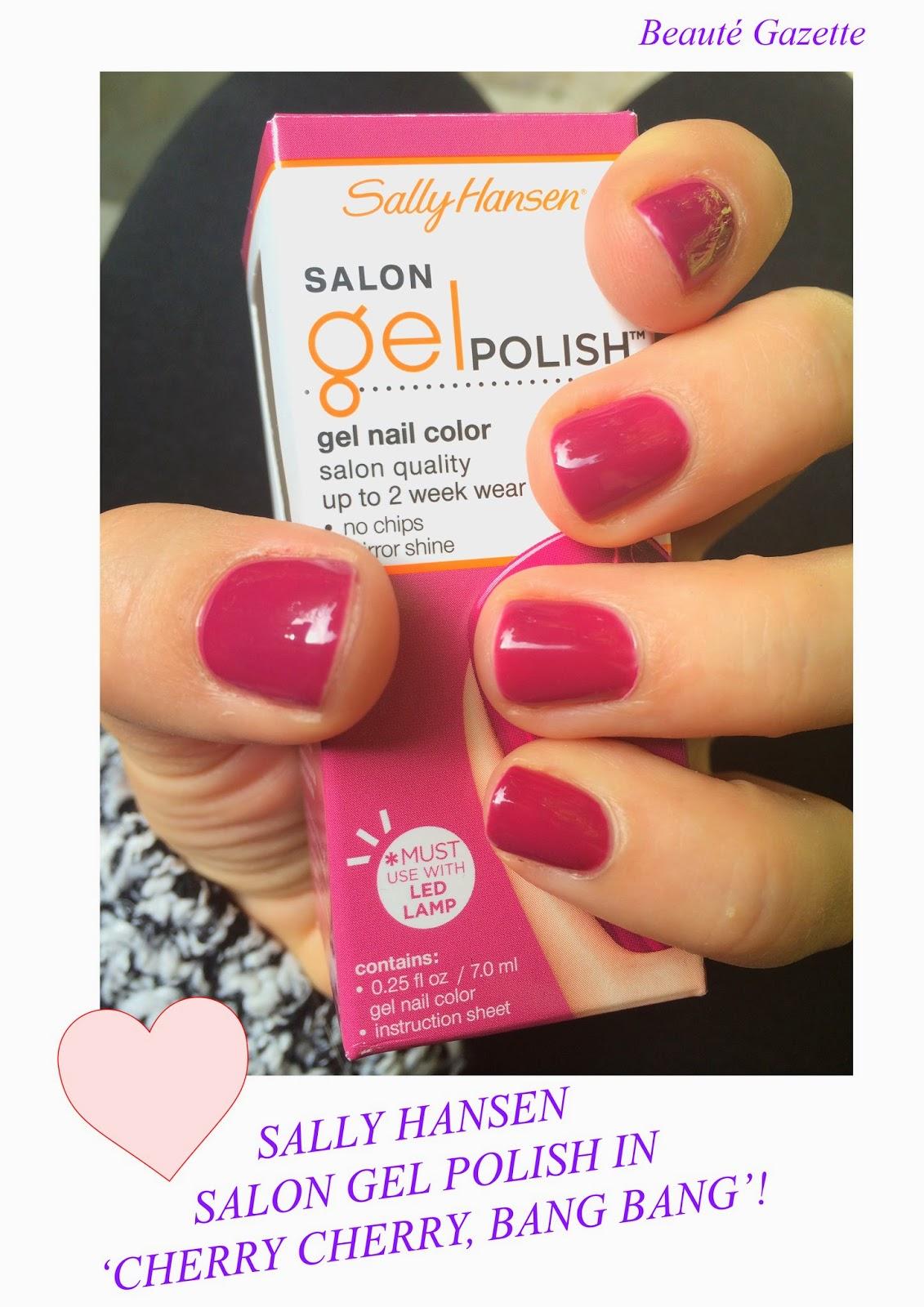 Beauté Gazette: DIY Gel Nails : Sally Hansen Salon Gel