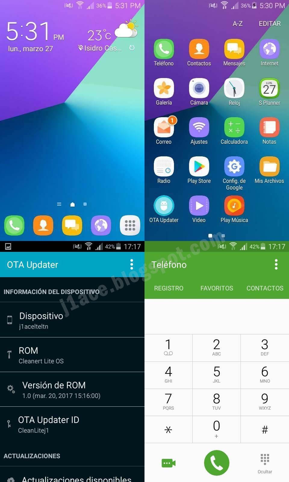 Custom Rom CleanertLite OS For Galaxy J1 ACE SM-J110M [5.1.1] - J1 ...