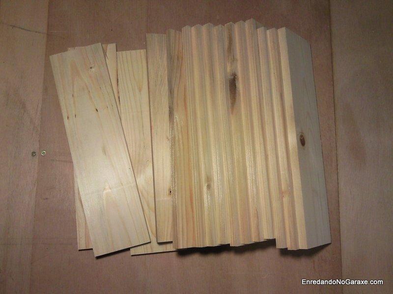 Madera de palet cepillada, parece madera nueva. enredandonogaraxe.com