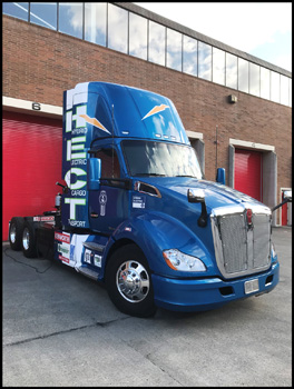 Prototype Kenworth T680 Hybrid Electric Cargo Transport