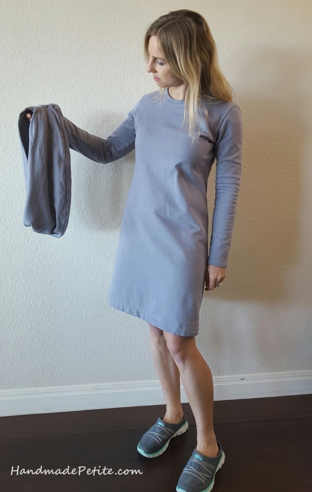 Handmade sweatshirt removable cowl using Simplicity 2054 sewing pattern