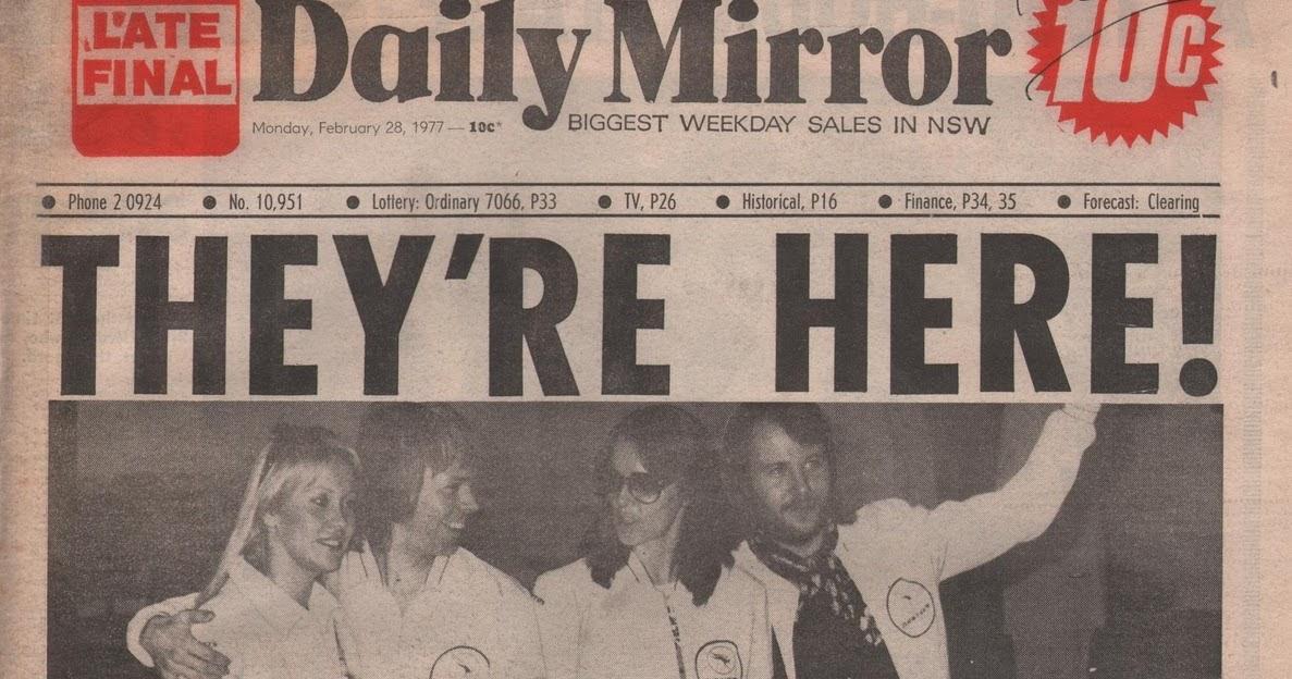 Daily Mirror On Flipboard By Daily Mirror: ABBAFanatic: ABBA 1977 Tour Australia