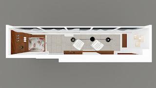 Projekt aranżacji balkonu