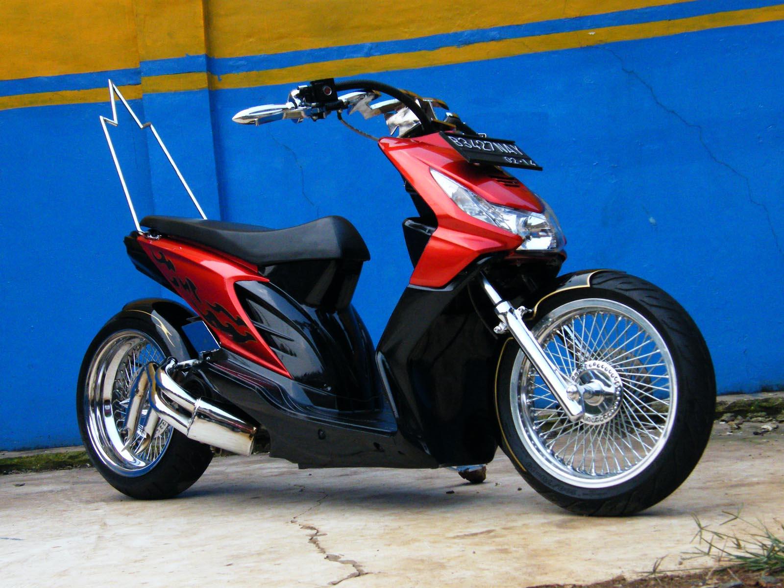 Modifikasi Motor Mio Jadi Harley Pecinta Modifikasi