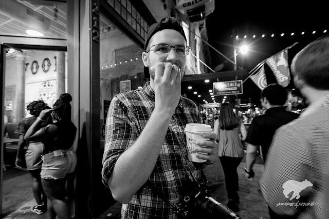 My homie Ethan at Voodoo Doughnuts.
