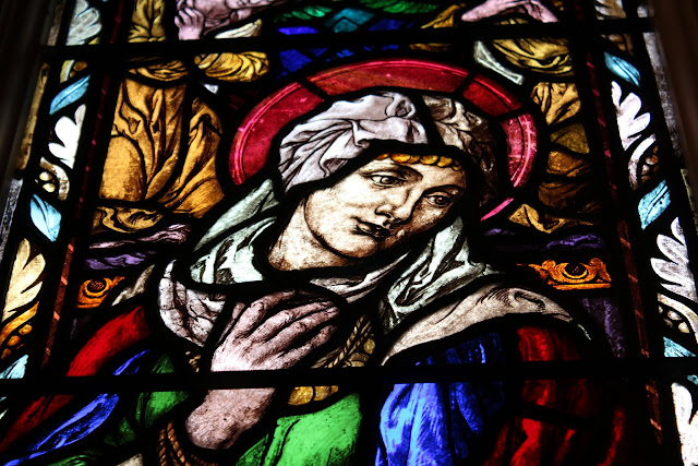 Mary - stained glass window, St. Barnabas, Ottawa