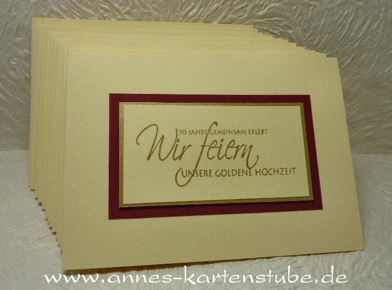 Annes Kartenstube Einladungen Zur Goldenen Hochzeit