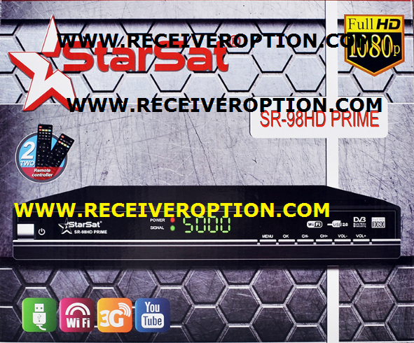 STARSAT SR-98HD PRIME RECEIVER POWERVU KEY NEW SOFTWARE