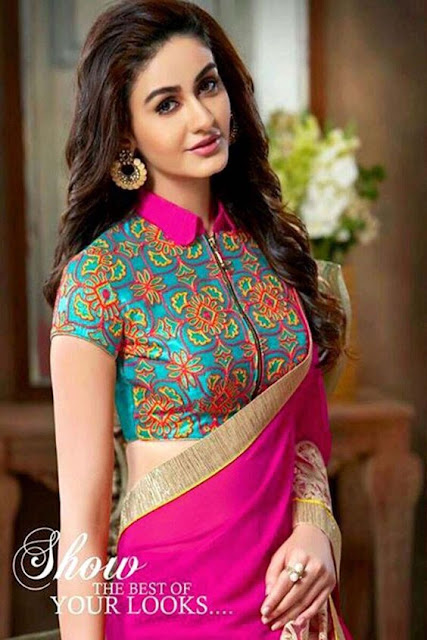 813834dcbe876c 30 Latest High Neck Blouse Designs for Sarees