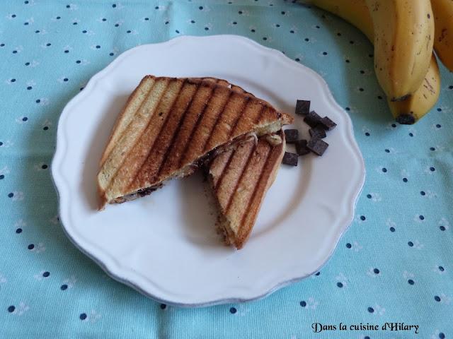 Croc'brioche banane et chocolat