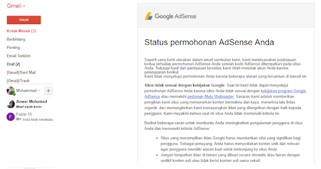 Pengalaman Diterima Google Adsense Full Approve Non Hosted Pertama Kali (Kisah Nyata)
