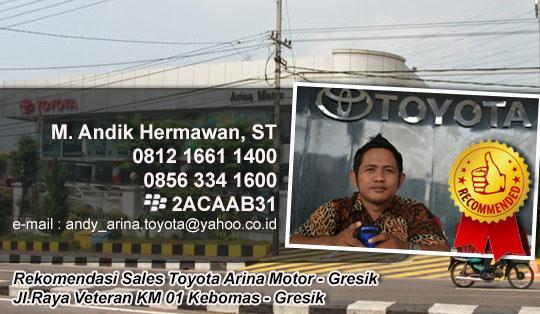 Rekomendasi Sales Toyota Arina Motor - Gresik