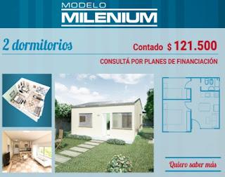 Viviendas Anahi precios 2018 2 dormitorios modelo milenium