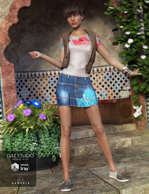 Chantelle Outfit for Genesis 3 Female