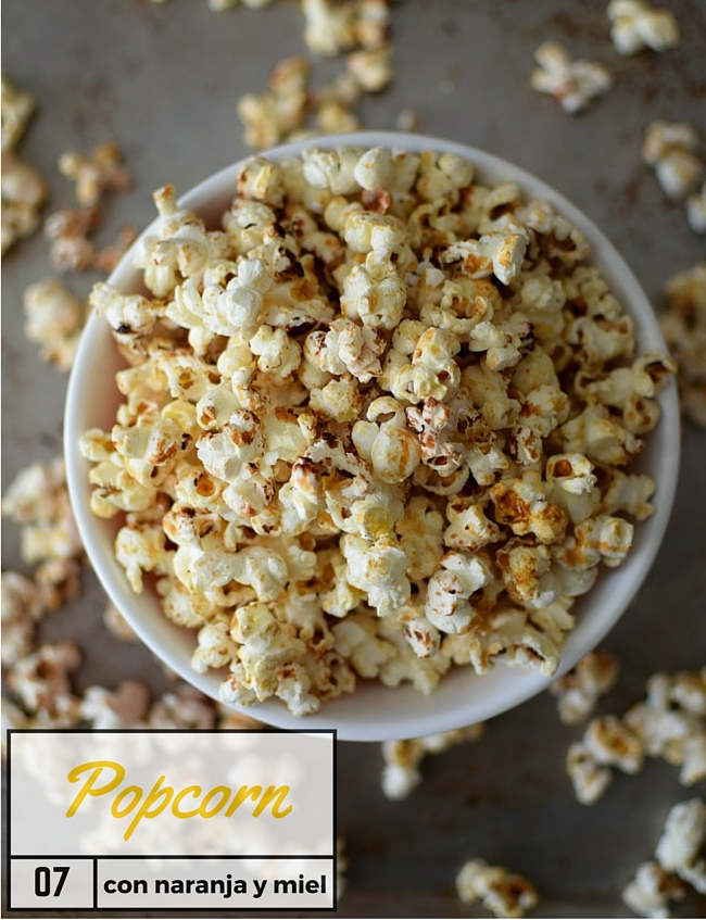 Popcorn con naranja y miel para la noche de los Oscar | http://bizcochosysancochos.blogspot.com/