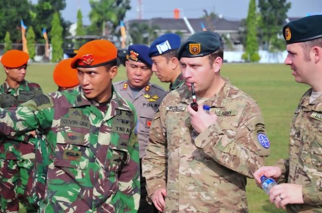 Paskhas TNI AU dan Pasukan Kusus Amerika Latihan Bareng Tanggulangi Terorisme