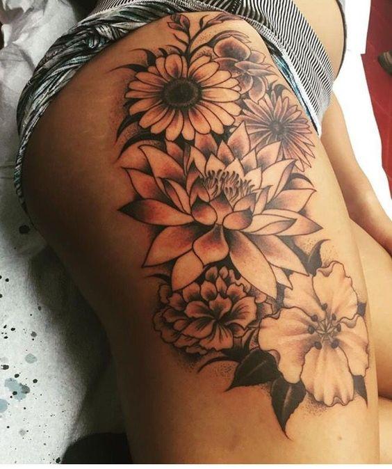 Brilliant Flower Tattoos For Women