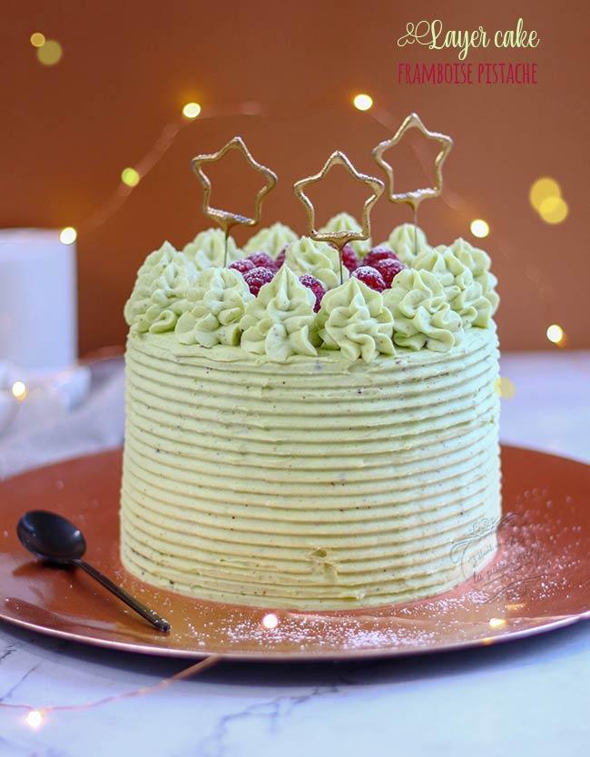 recette de layer cake pistache