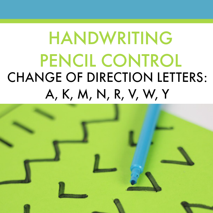 Address direction change in letter formation with this creative handwriting activity.