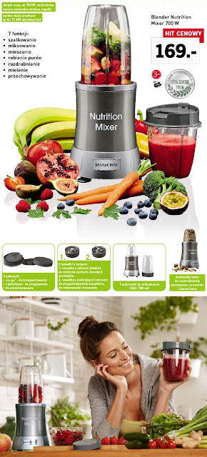 Blender Nutrition Mixer 700 W Silvercrest Lidl ulotka