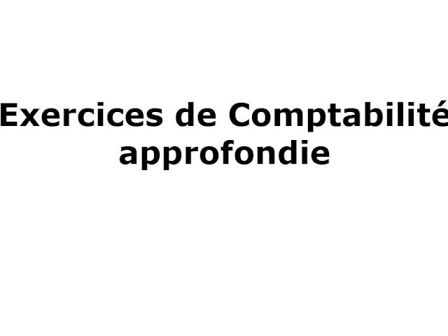 EXERCICE COMPTABILITÉ APPROFONDIE: COÛT D'ACQUISITION / DE PRODUCTION
