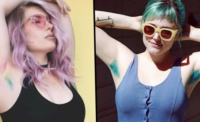 """Unicorn Armpit Hair"" Is the Best Beauty Trend of 2019 So Far"