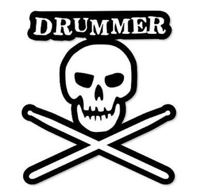 Gambar Stiker Motor Lucu Keren Terbaru Stripping Drummer Tengkorak Gokil