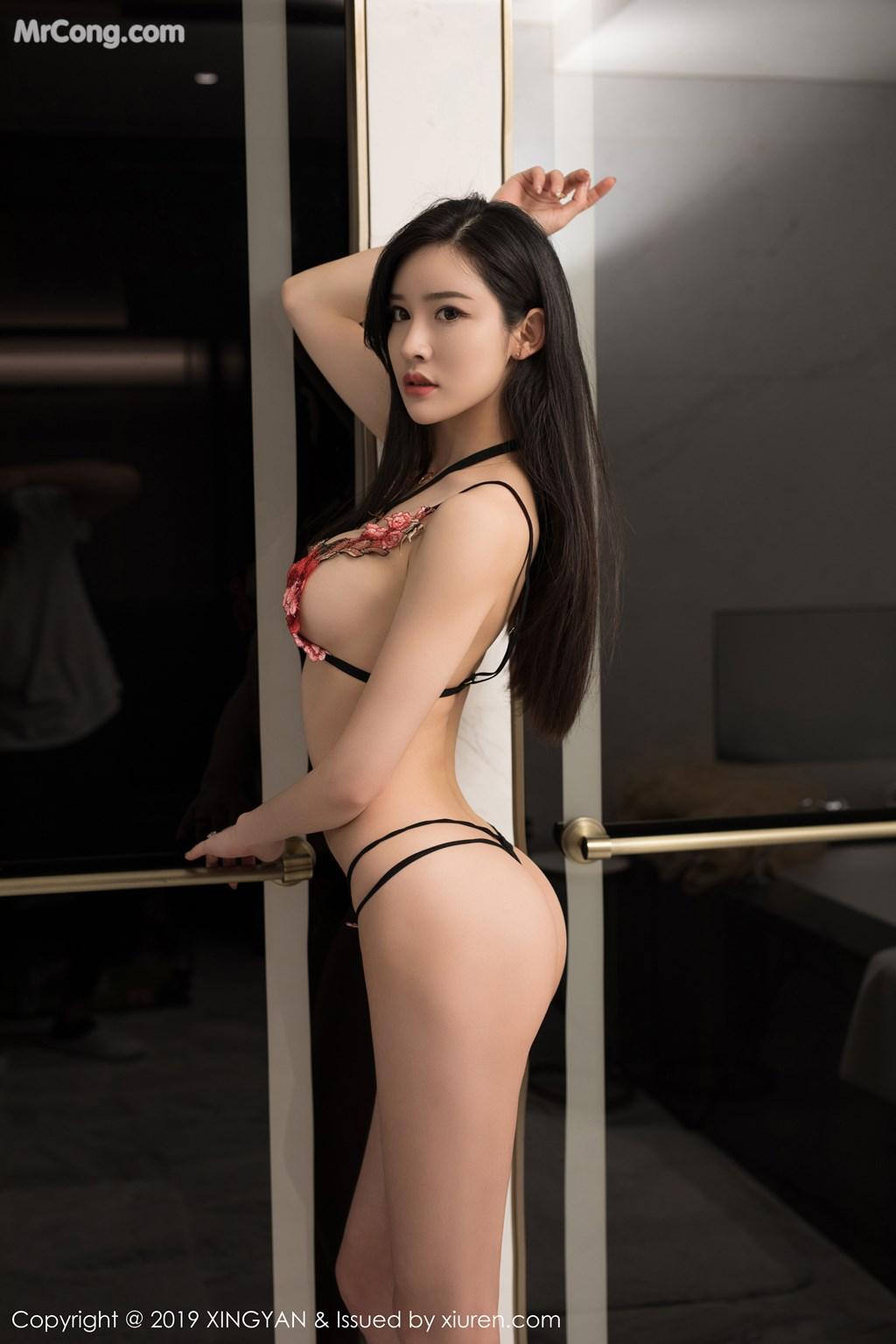 Image XingYan-Vol.121-He-Chen-Xi-MrCong.com-037 in post XingYan Vol.121: He Chen Xi (何晨曦) (49 ảnh)