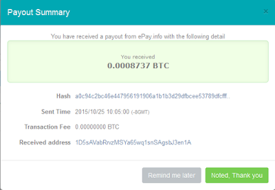 Payout Bitcion