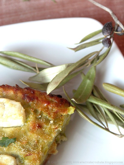 grecka zapiekanka z porów z serem feta
