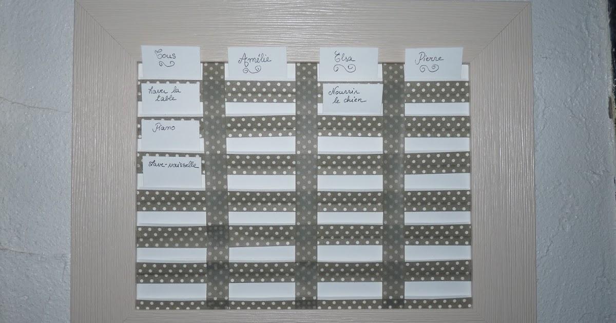 le petit monde de bidule tableau pense b te des t ches. Black Bedroom Furniture Sets. Home Design Ideas