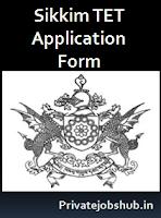 Sikkim TET Application Form