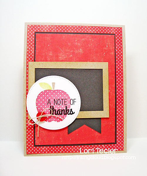 A Note of Thanks card-designed by Lori Tecler/Inking Aloud-stamps from Reverse Confetti