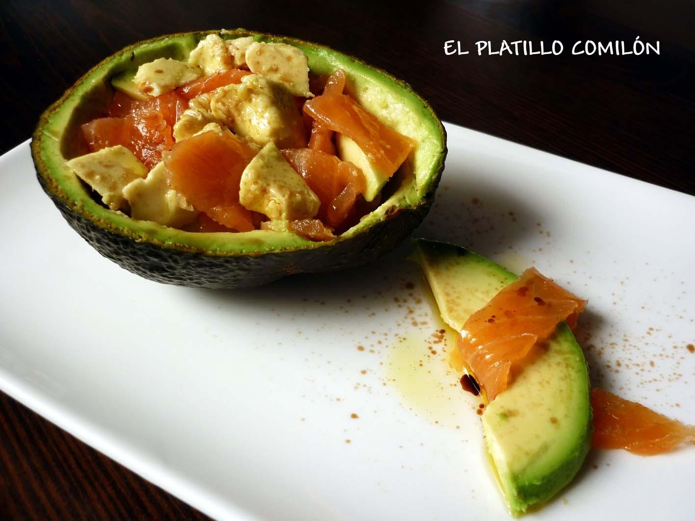 El platillo comil n ensalada de aguacate y salm n ahumado - Ensalada de aguacate y salmon ahumado ...