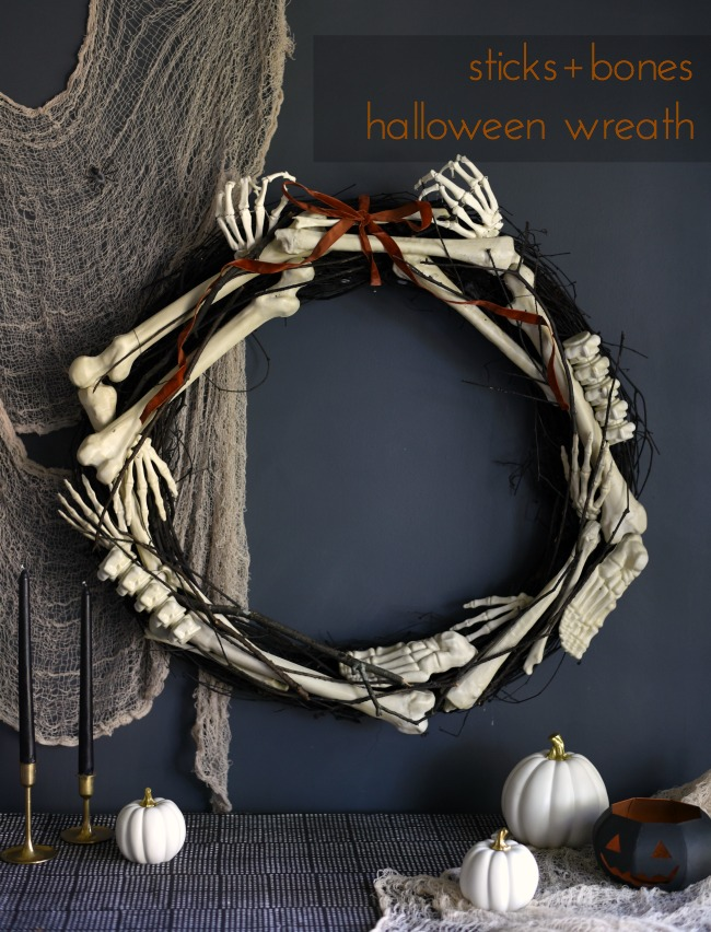 This Little Miggy || Sticks + Bones Halloween Wreath