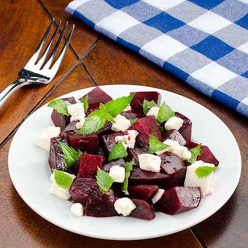 Beet and Goat Cheese Salad with Mint