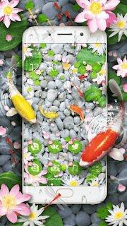 Lively Koi Fish 3D theme - screenshot 1