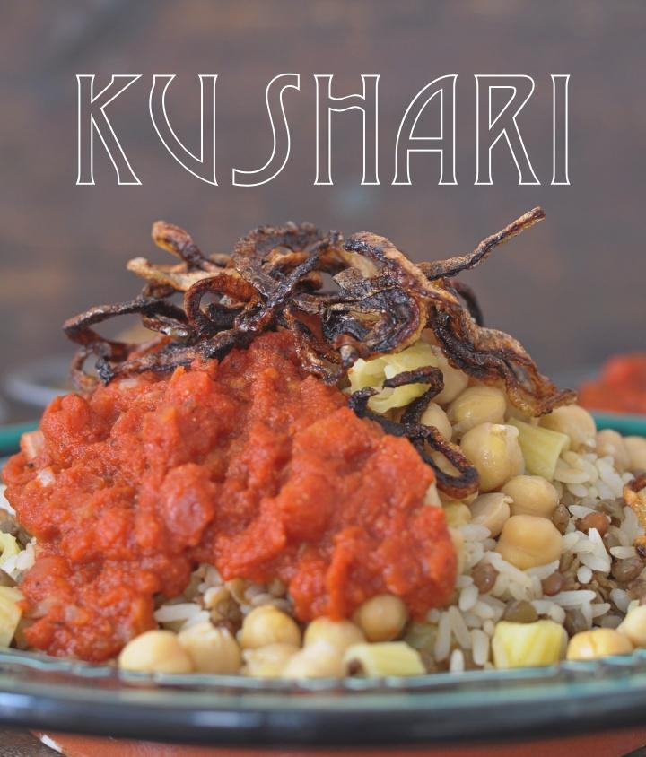 gluten free Koshary, perfect Egyptian soulfood