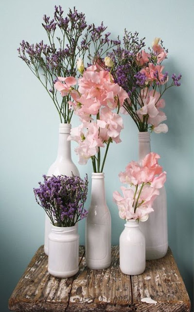 Decorate With Glass Bottles And Flowers 10