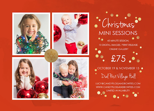 Christmas 'Mini-Session' bookings for your families & pets are OPEN!