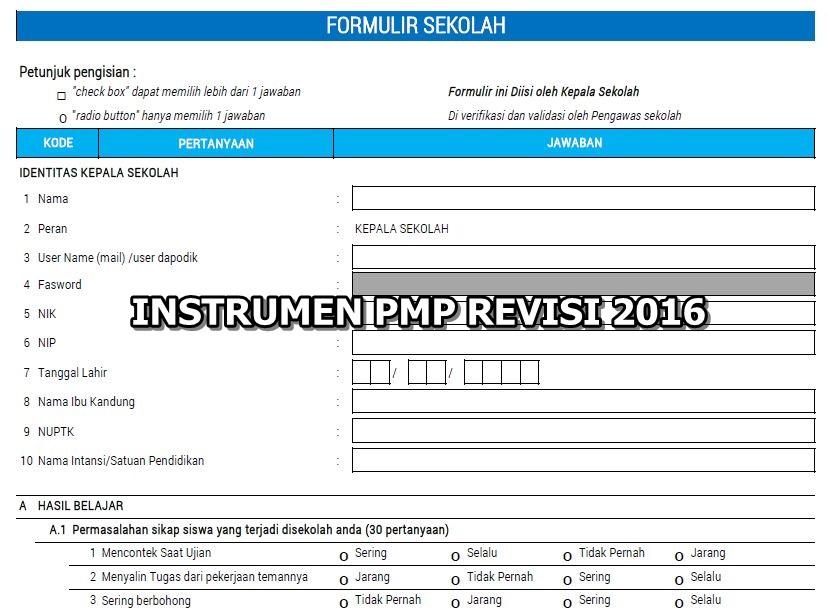 Instrument Pmp Revisi 2016 Guru Peduli