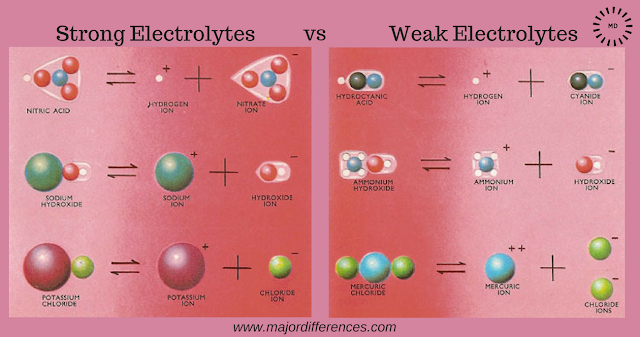 Strong Electrolytes vs  Weak Electrolytes