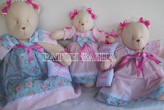 Ursinhas Princesas e Ursinha  de vestido Floral