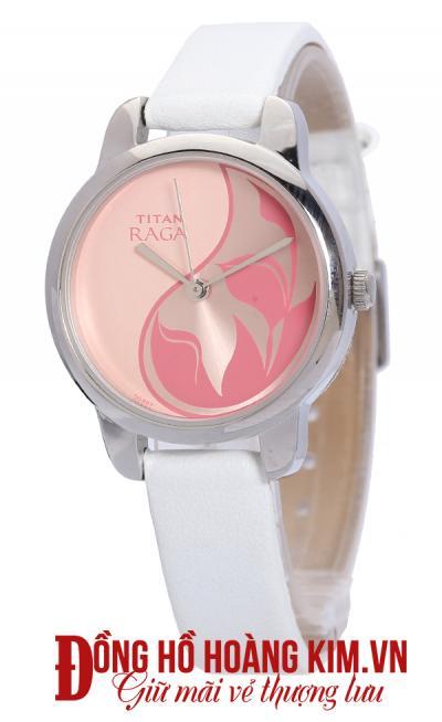 đồng hồ nữ dây da trắng đẹp