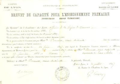 Brevet Élémentaire, 1897 (collection musée)