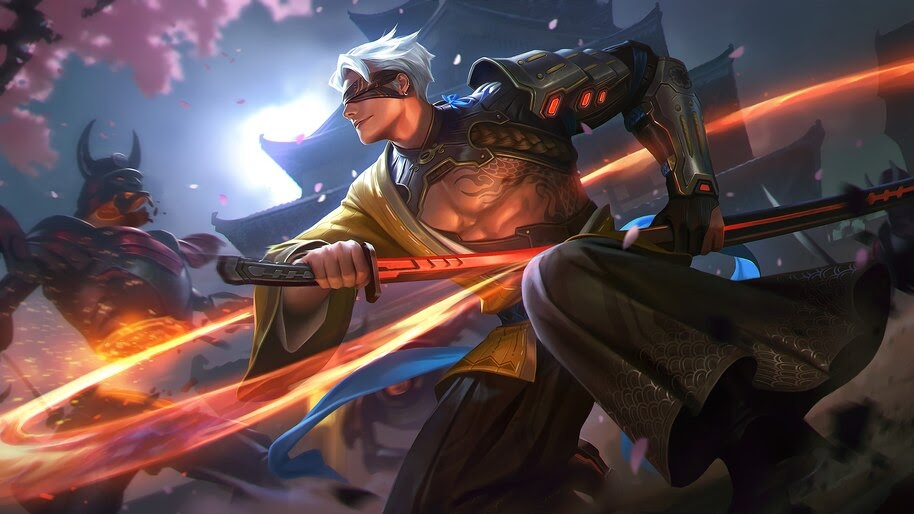Samurai, Blind, Warrior, Katana, Fantasy, 4K, #4.611