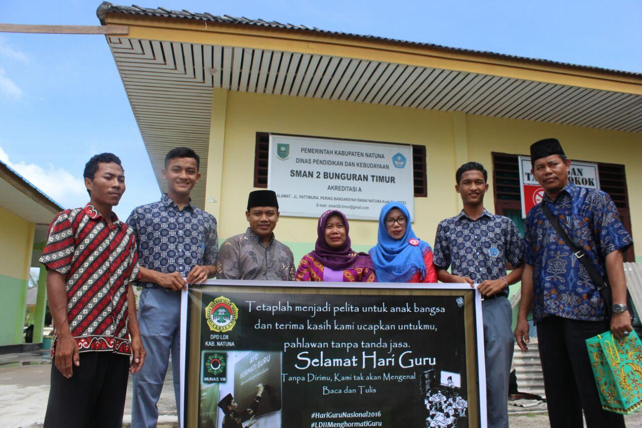 LDII Kepulauan Natuna turut menyambut Hari Guru Nasional dengan Gerakan Menghormati Guru, 25 November 2016. Foto: LINES