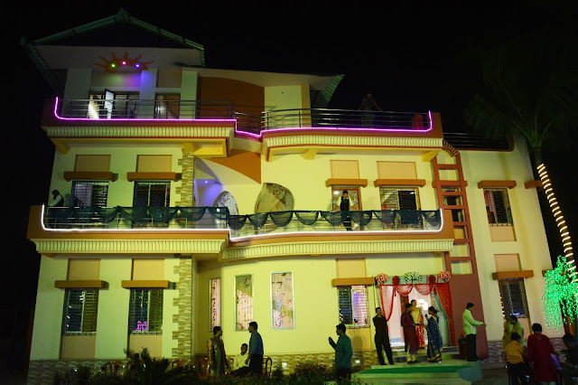 Night view of Celebration Banquet Hall