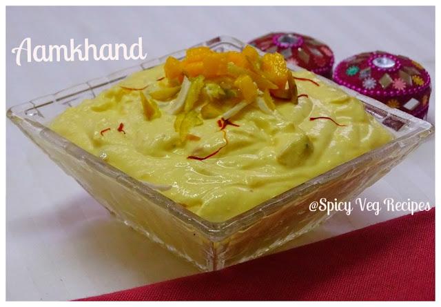 Indian food recipes indian recipes desi food desi recipes aamkhand amrakhand recipe how to make mango shrikhand recipe forumfinder Choice Image
