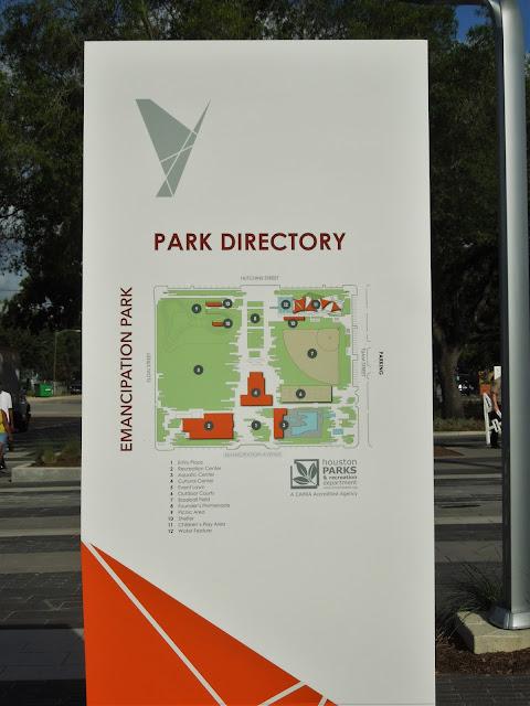 Emancipation Park Directory - Site Plan with Legend